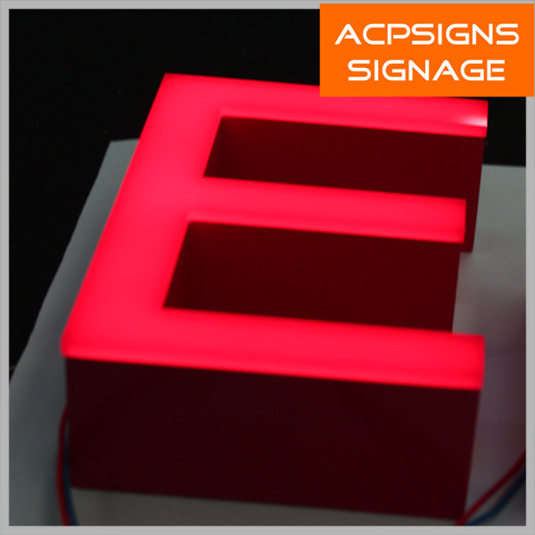 Frontlit Metal Logo Letters Acrylic Letter with LED Light