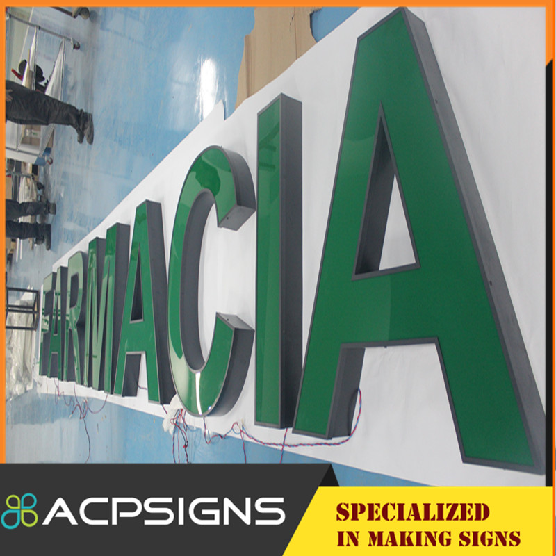 Stainless Steel Advertising LED Channel Sign Letter