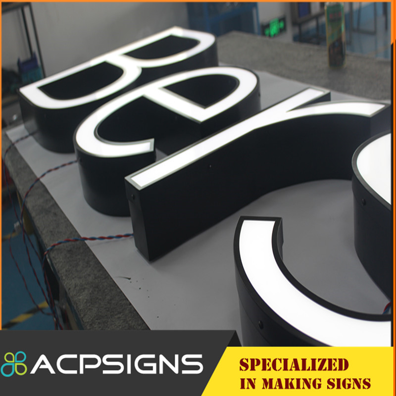 Top Grade Front Lit LED Acrylic Letters Sign