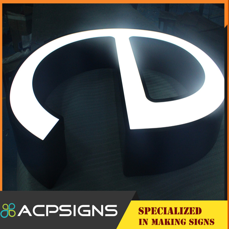 Acrylic Frontlit Channel Letters LED Lighting Advertising Logo