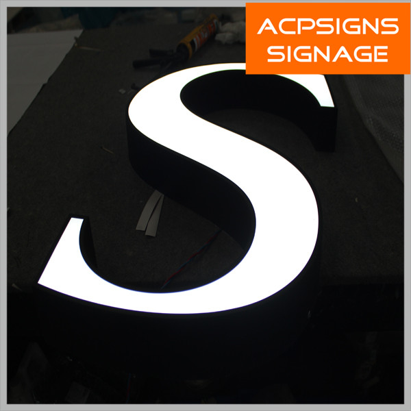 Face Lighted LED Acrylic Outdoor Sign Board