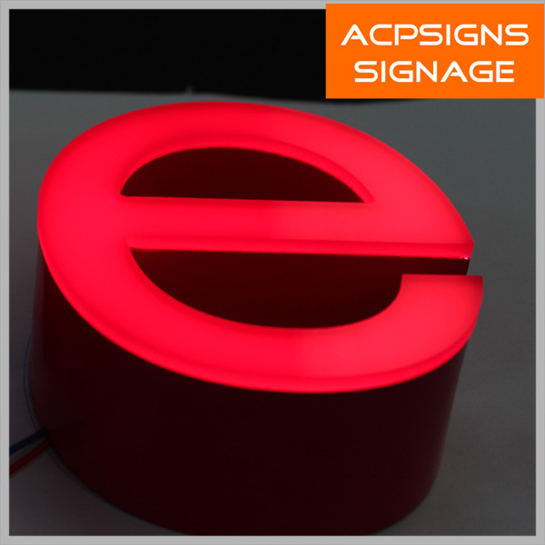 Shining Frontlit Acrylic LED Letters and Signs