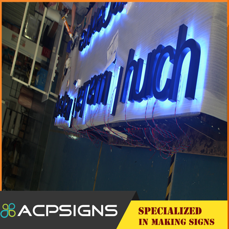 Backing Lighted DIY LED Backlit Channel Letter Sign