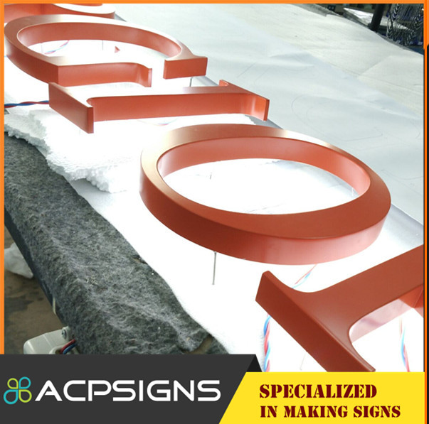 High Luminous Professional Customized Back Lighted Signs