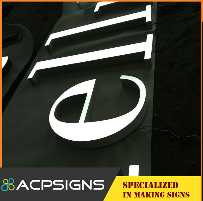 Can Be Customized Acrylic LED Aphabet Letters