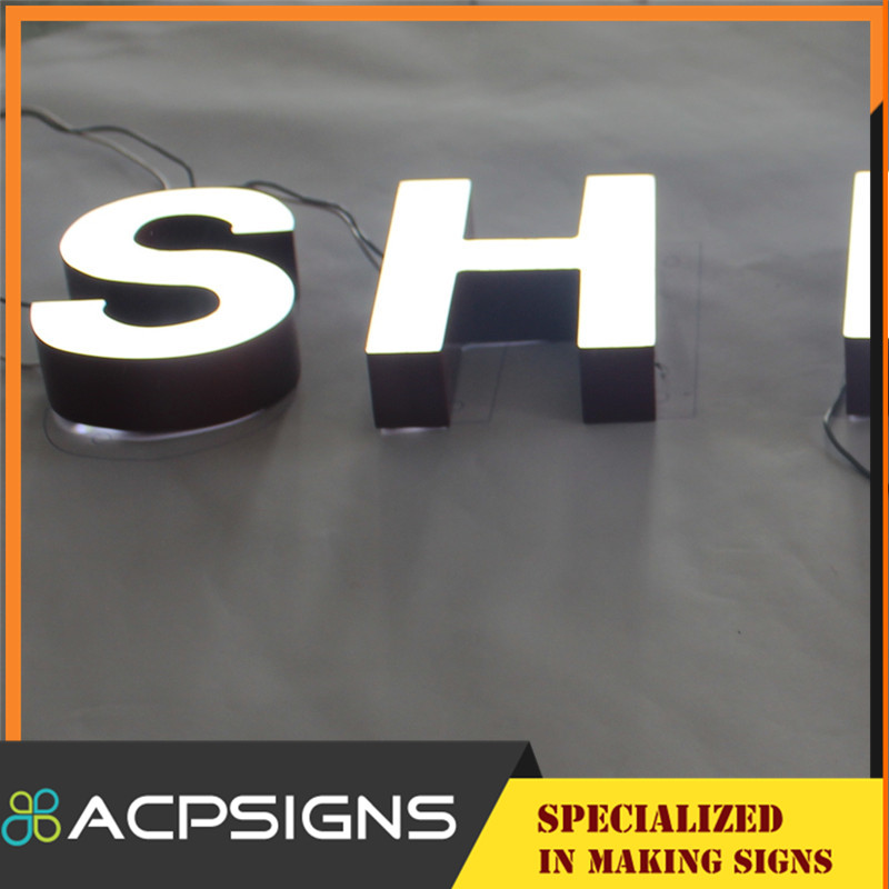 Face Illuminated LED Sign Letters