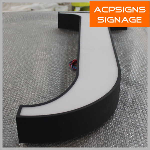 Well Fabricated Face Lighting Custom Outdoor Signs