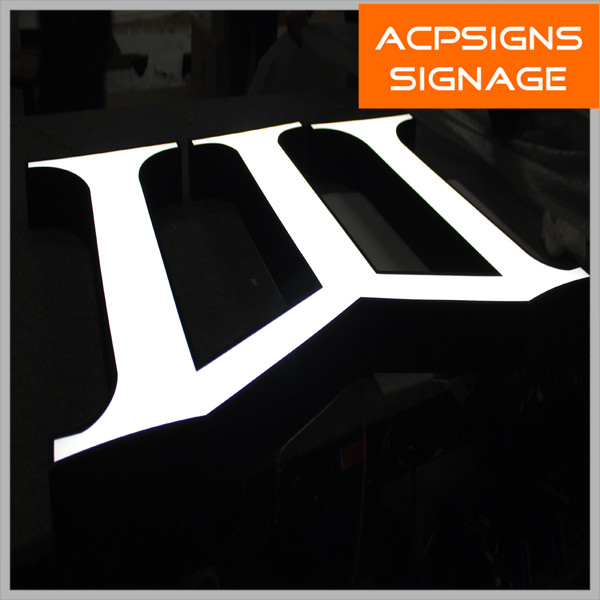 Acrylic Stainless Steel UL 3D LED Reverse Channel Letters