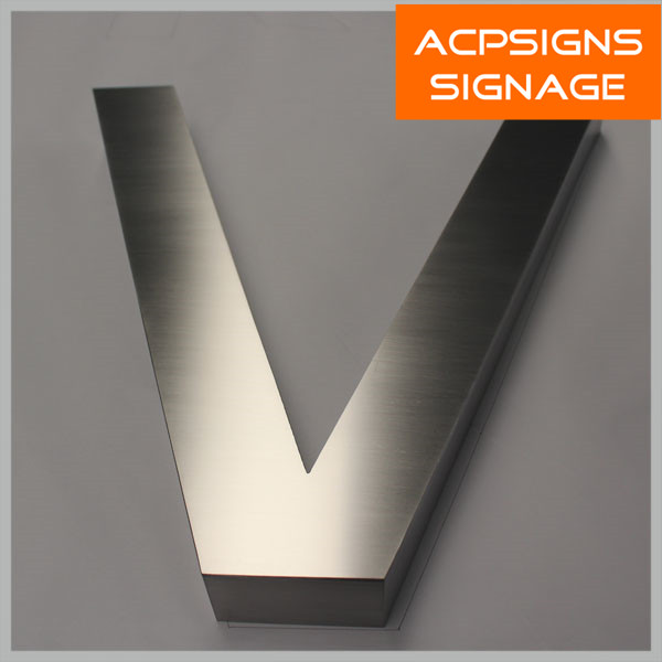 Brushed Fabricated Stainless Steel Letters