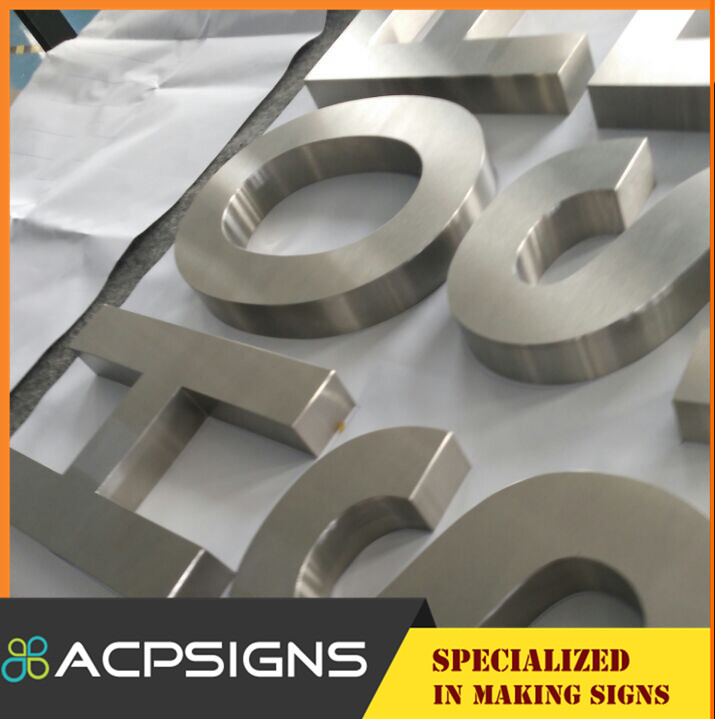 Mirro Finish Laser Cutting Metal Letters