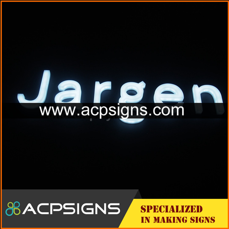 full lighted 3D plastic led letter sign advertising