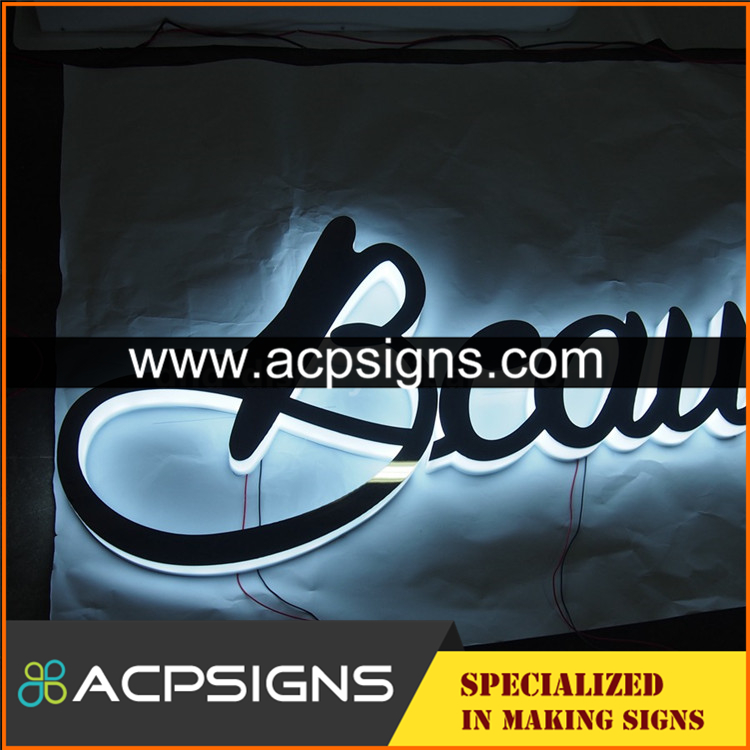 full lighted 3D plastic led personalized letter sign