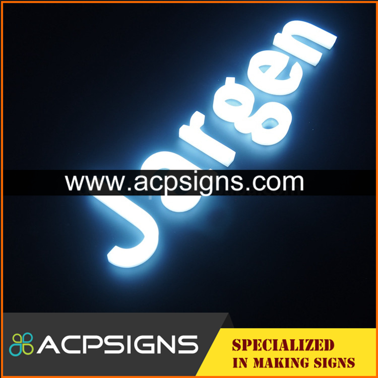 full lighted 3D plastic led acrylic 3d letter by neon sign