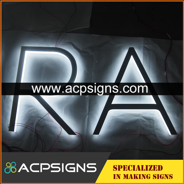 full lighted 3D plastic led beautiful letters