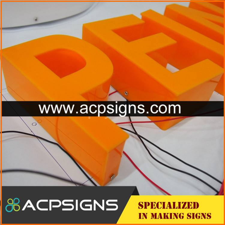 full lighted 3D plastic led Mini Acrylic Led Letters
