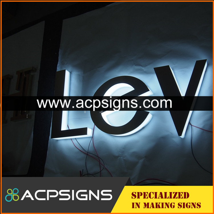 full lighted 3D plastic led 3d letter logo
