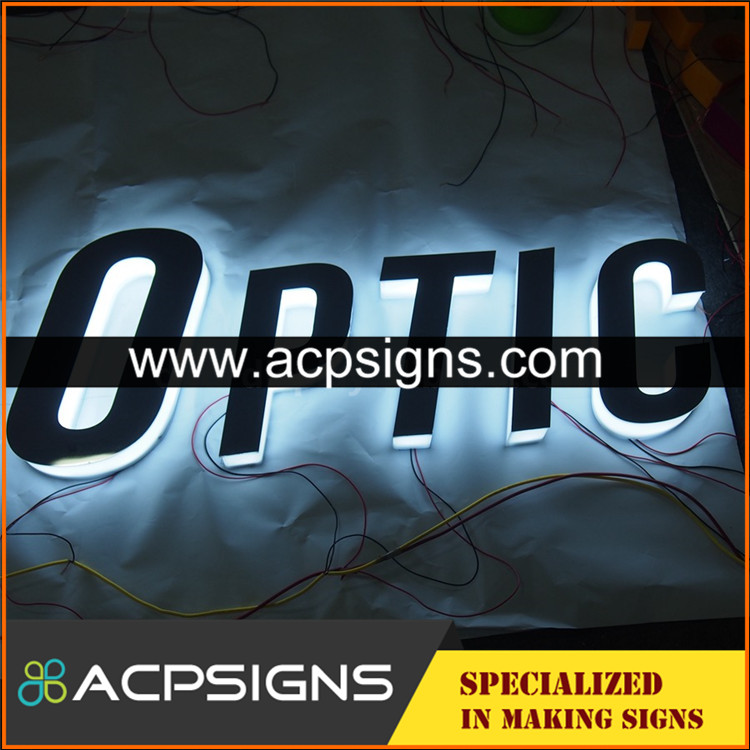 full lighted 3D plastic led 3d letters and numbers