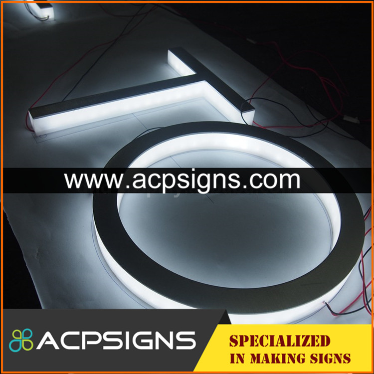 full lighted 3D plastic led outdoor wall mounted letters
