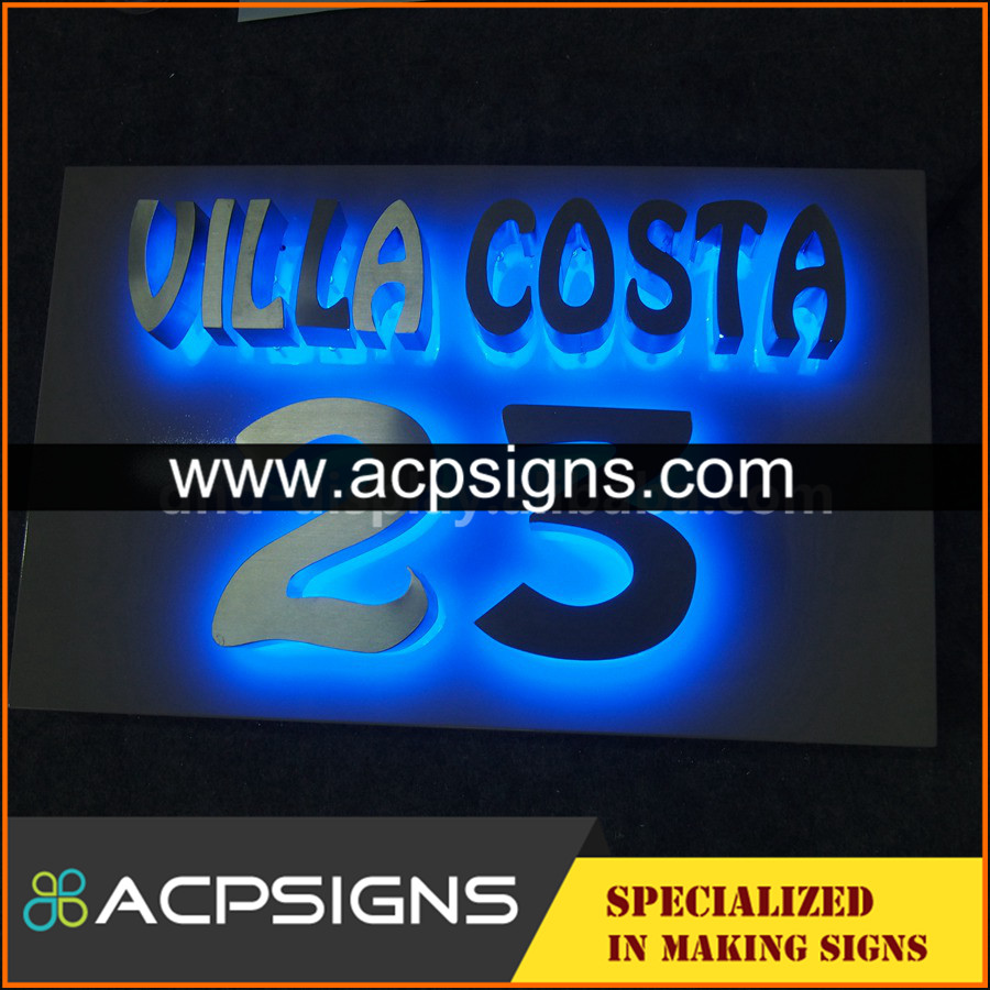 lighted sign letters aluminum alloy led channel 3d