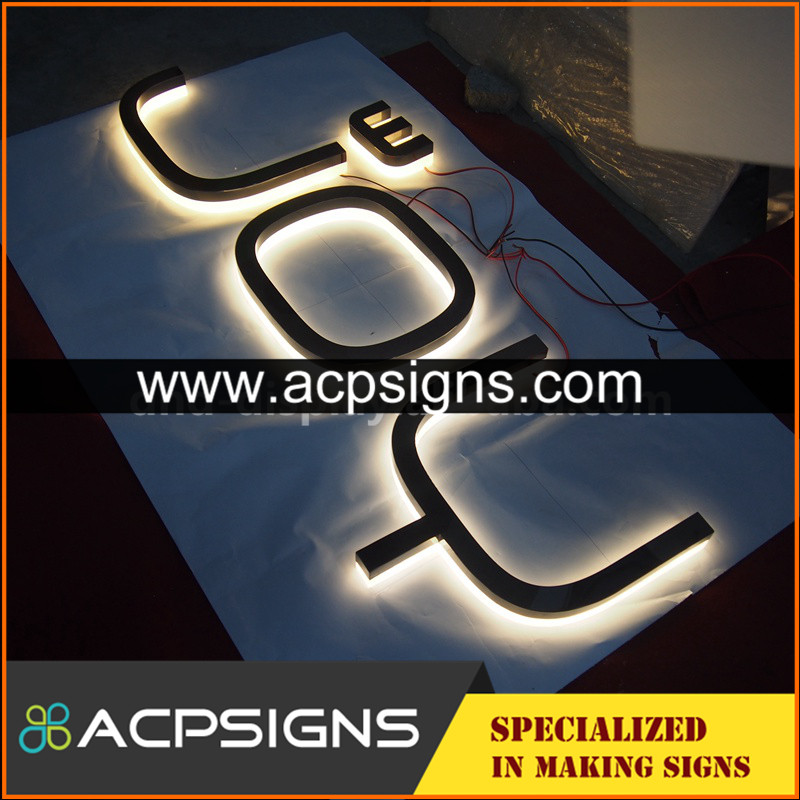 lighted sign letters mirror 3d letter