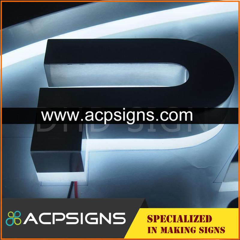 lighted sign letters backlit letter 3d wall