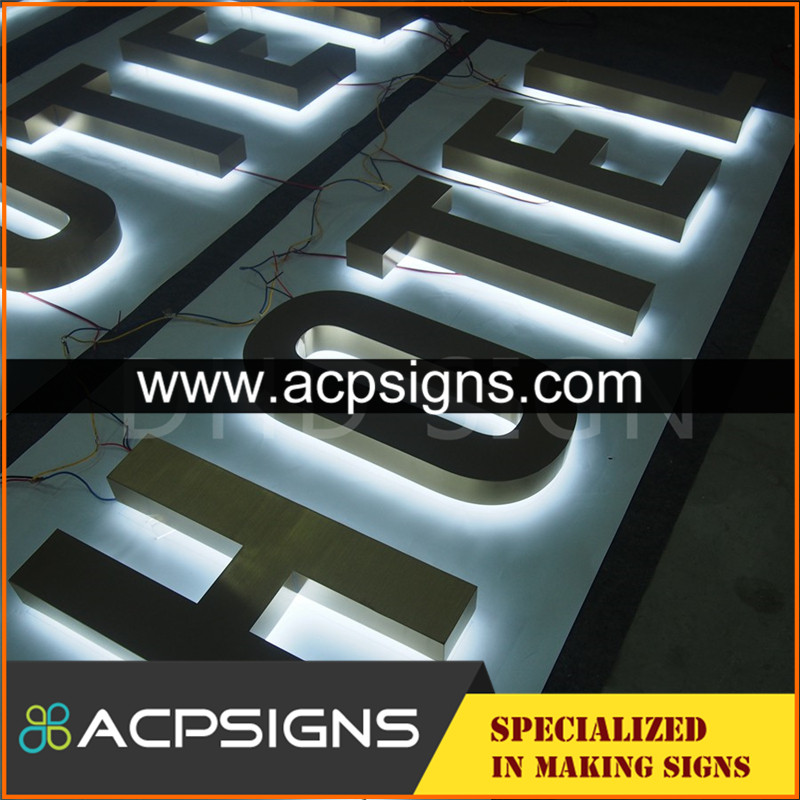 lighted sign letters 3d metal