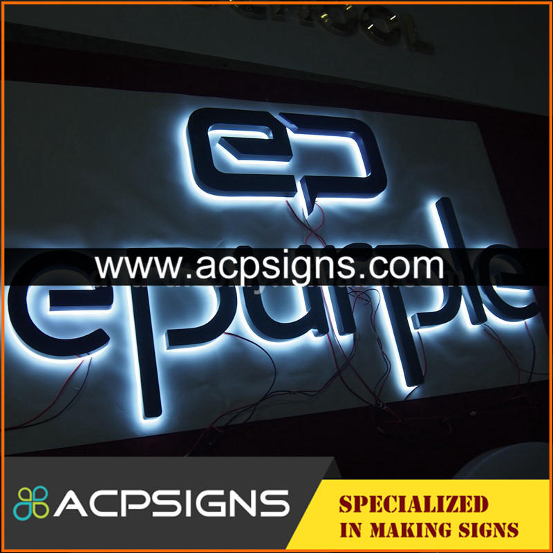 lighted sign letters decorative 3d metal large