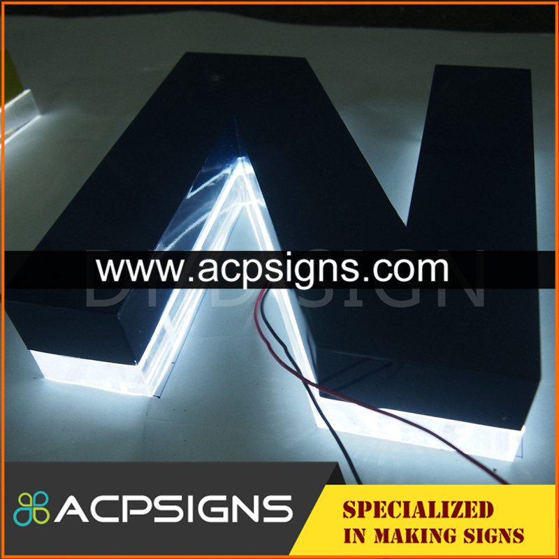 lighted sign letters metal 3d painted solid