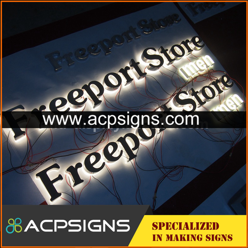 lighted sign letters 3d painted solid