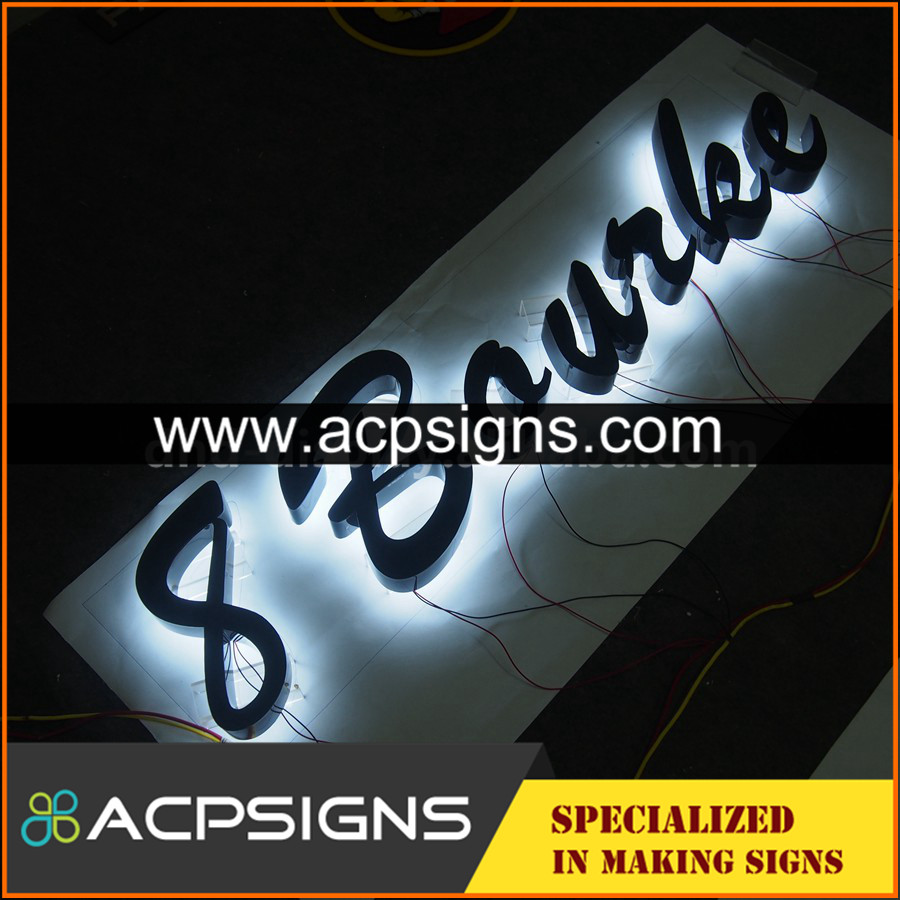lighted sign letters Factory supply metal letter 3d
