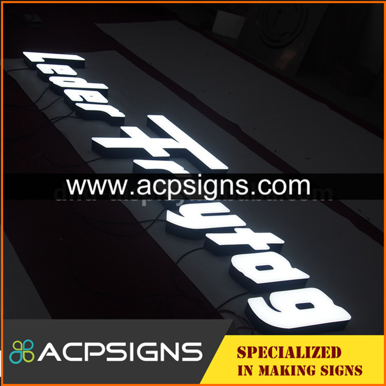 led sign acrylic alphabet letter face light letters