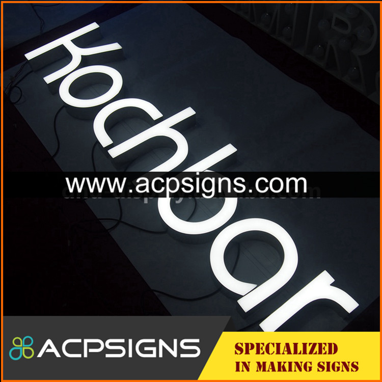 led sign acrylic alphabet letter famous brand chain store frontlit