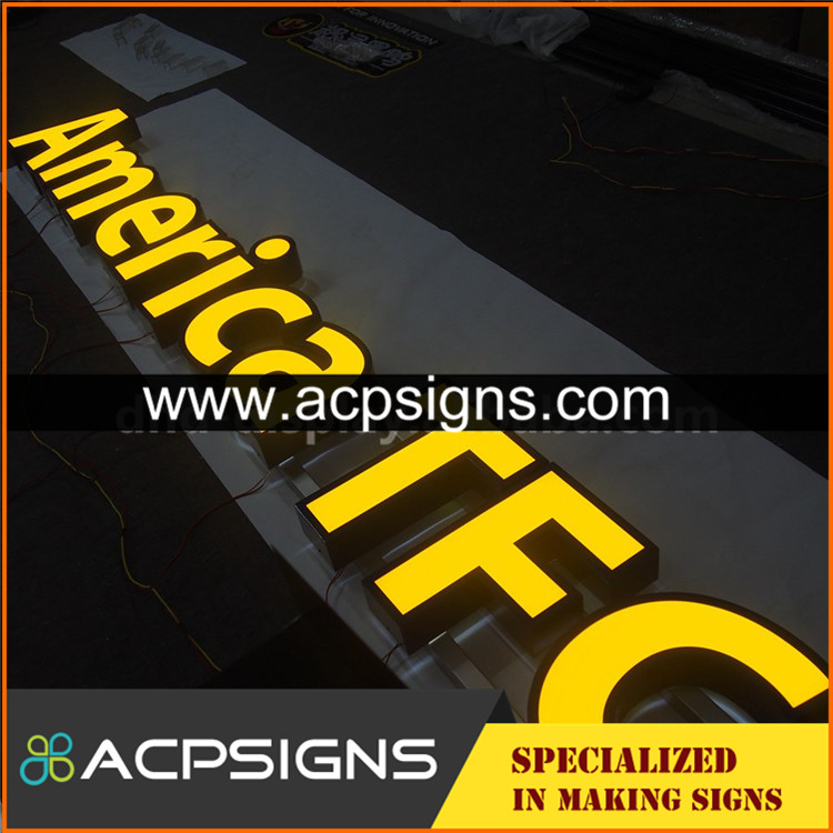 led sign acrylic alphabet letter outdoor advertising frontlit letters