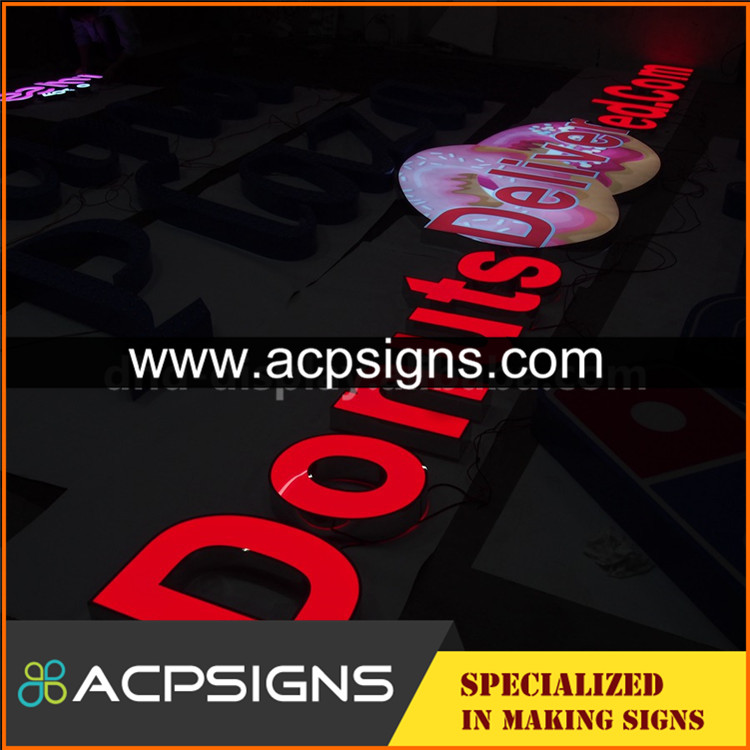 led sign acrylic alphabet letter low price hot selling back sparking letters for brand store