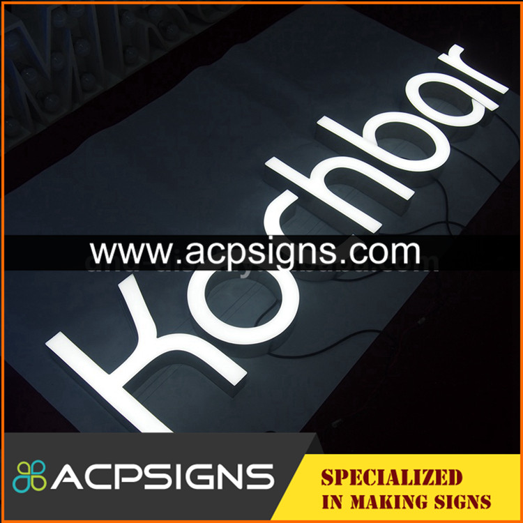 led sign acrylic alphabet letter luminous LED
