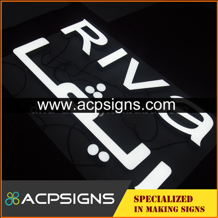 led sign acrylic alphabet letter front signs