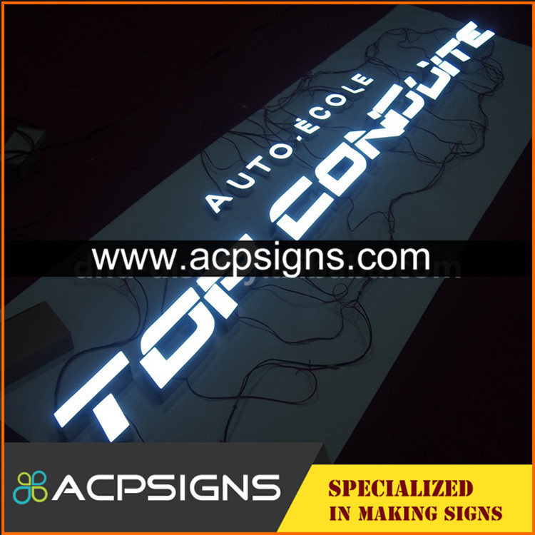 led sign acrylic alphabet letter outdoor and indoor frontlit