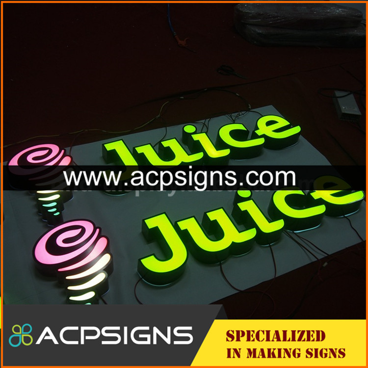 led sign acrylic alphabet letter outdoor waterproof face box
