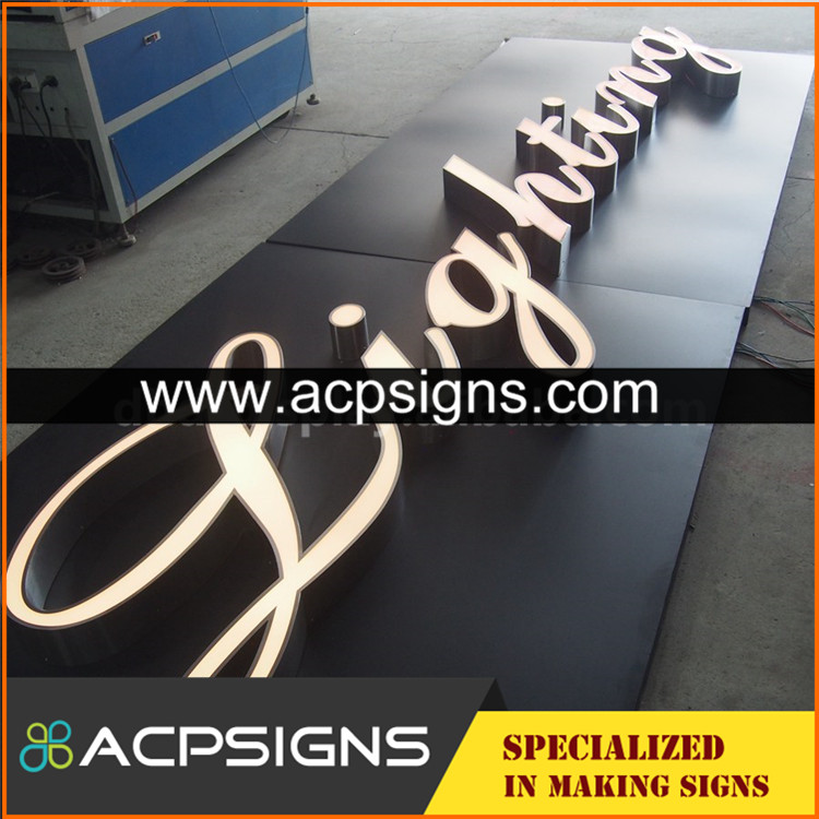 super bright light box Custom alphabet metal letter sign with certificate