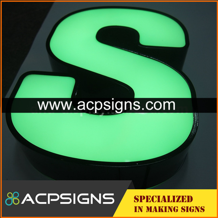 2017 New design gold paint letter sign with good price