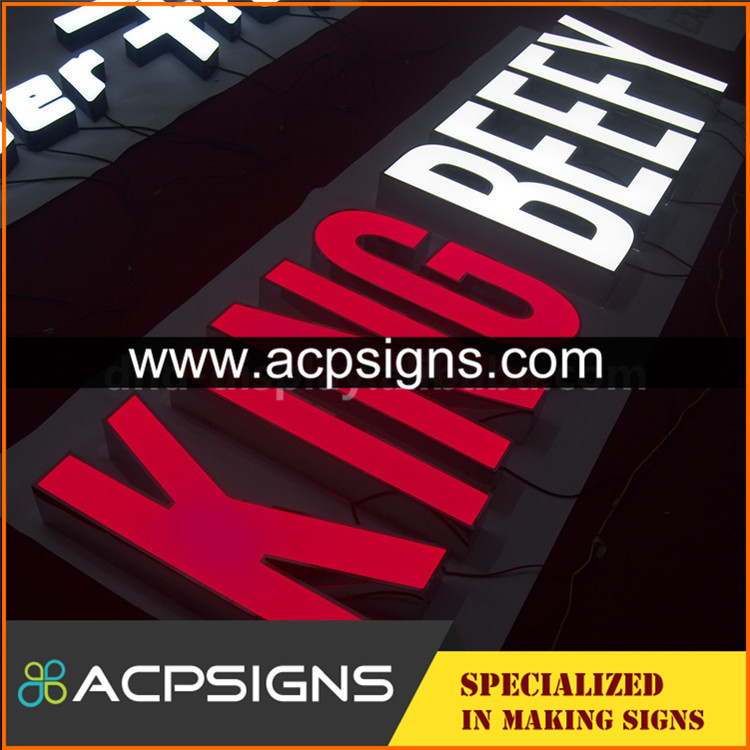 China manufacturer plexiglass halo letter sign china Wooden Packing