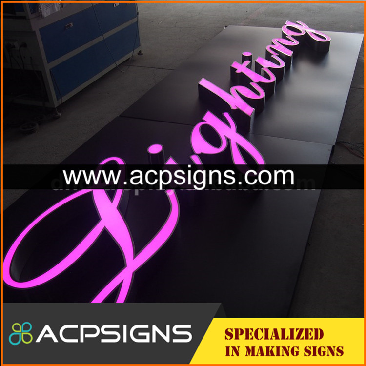 New product front illuminated resin letter signs by Chinese Supplier
