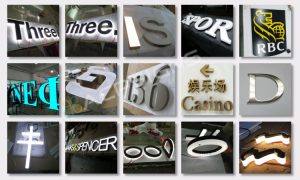 lighted sign letters 3d advertising logo