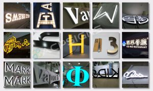 led sign acrylic alphabet letter bold and bright frontlit letters