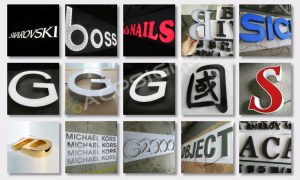 lighted sign letters Polished Metal Lettering