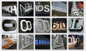 full lighted 3D plastic led frontlit letter supermarket signage