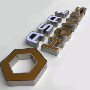 3D Hotel Frontlit Signage Letters Factory Signs Acrylic Indoor Led Outdoor Building Signage