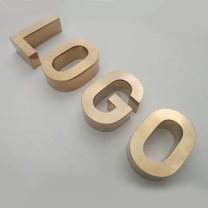 3D Stainless Steel Letters English Channel Letters Metal Sign Alphabet Rose Gold Letters