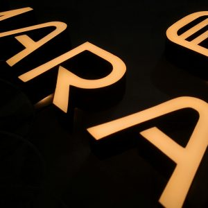 Custom LED Letters Signs Epoxy Resin Sign and Signage