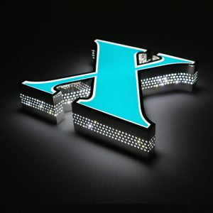 Custom Side Perforated Plane Making LED Letter Sign